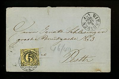 Postal History German States / Thurn+Taxis Scott#46 Folded Letter 1860 Wiesbaden
