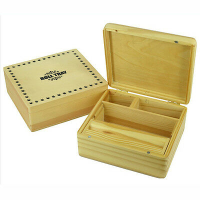 Wooden Rolling Box Roll Tray Smoking Tobacco Stash Snuff Big Size Smokers Box