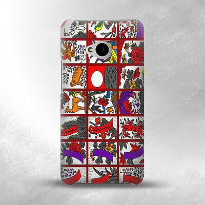 S1923 Hanafuda Japanese Flower Card Case Cover For HTC ONE M7