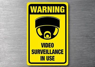 Video Surveillance warning sticker 7 year quality water & fade proof vinyl