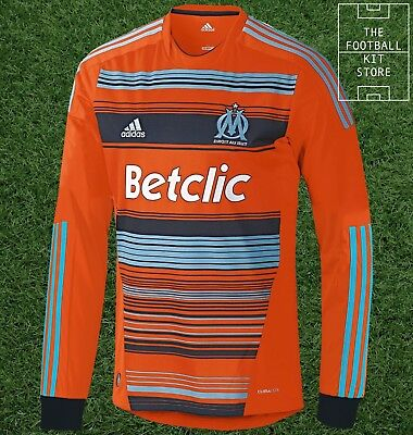 Official Adidas Marseille Third Shirt - Long Sleeved Football Jersey - All Sizes
