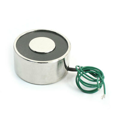 DC 12V 55lb 2 Wired 8W Electric Electromagnet Solenoid Lift Holding