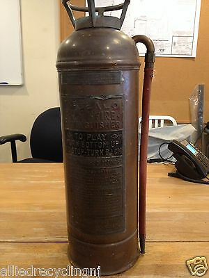 "VINTAGE "" BUFFALO ""  BRASS AND COPPER FIRE EXTINGUISHER (EMPTY) (6020-BW)"