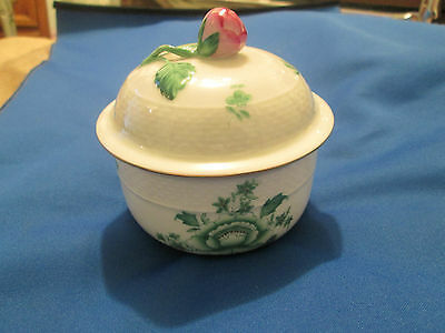 Herend - Nanking Bouquet / Niang / Green  COVERED SUGAR BOWL