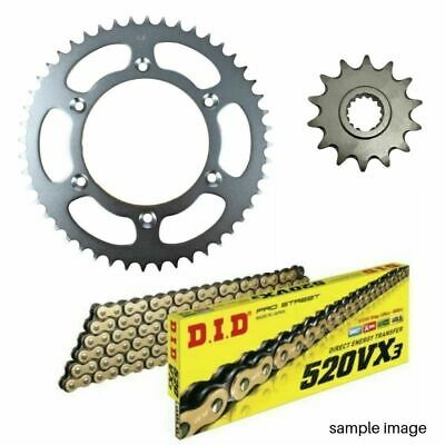 DID 520VX2 gold X-ring chain & 14t/50t sprocket kit Yamaha WR450F 2003-2014