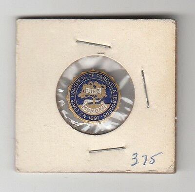 [45545] Undated Pin New York State Congress Of Parents & Teachers Life Member
