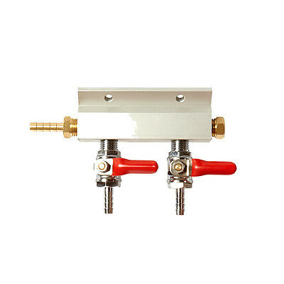 2 Way Compressed Gas Manifold - Gas Line Splitter - Multi Keg Set Up - Homebrew