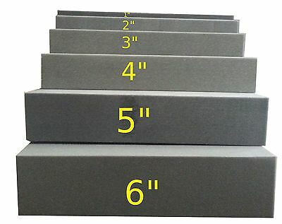 """3""""x24""""x82"""" Firm Foam Rubber Replacement Sheet-Great for boat seats and benches!"""