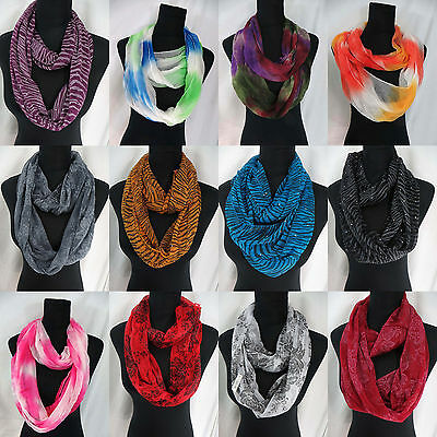 US SELLER-lot of 12 wholesale infinity scarf endless shawl eternity wrap