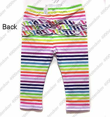 The children's place colorful rainbow striped ruffle baby girl legging Pants 1pc