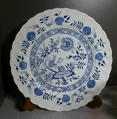 """10"""" Dinner Plate Wood & Sons Ironstone Blue Fjord England"""