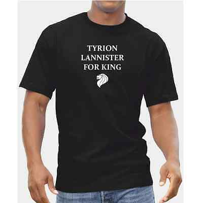 Tyrion Lannister For King TShirt - Mens Boys Game Of Thrones Dwarf Imp Gift DVD