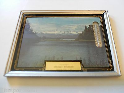 STANLEY BUEHRING Framed Advertising Picture Thermometer Oshkosh Wisconsin
