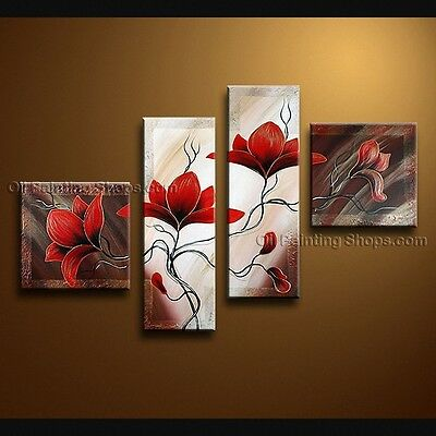 Large Original Framed Contemporary Wall Art Floral Modern Abstract Painting BoYi