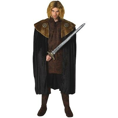 Medieval Costume Cloak Adult Cape Ned or Robb Stark Game of Thrones Fancy Dress
