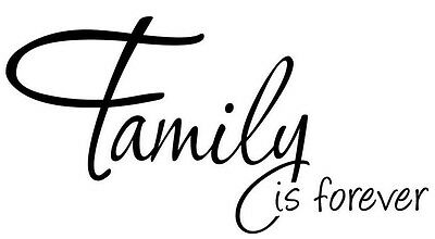 FAMILY IS FOREVER Vinyl Lettering Words Wall Art Quote Sticky Decals Sticker
