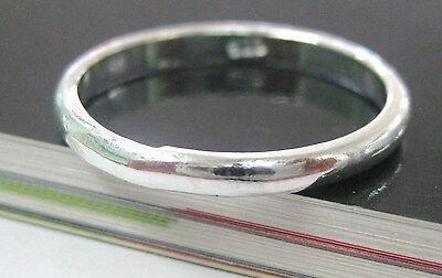 "925 sterling silver ""2mm THICK "" WEDDING BAND ring size 3.5 to 11.75  - UNISEX"