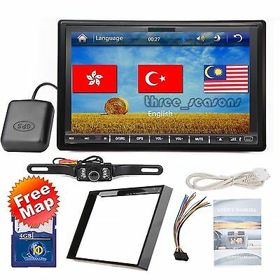 """7"""" HD Double DIN Car GPS Stereo DVD Player Touch Screen Bluetooth+Camera c9522"""