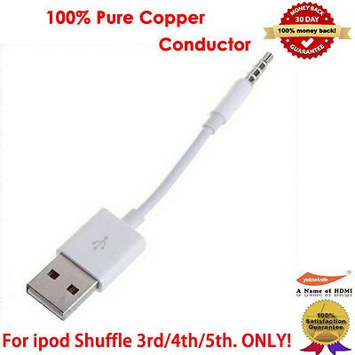 USB CABLE SYNC + CHARGER CORD FOR APPLE iPOD SHUFFLE 3rd 4th 5th