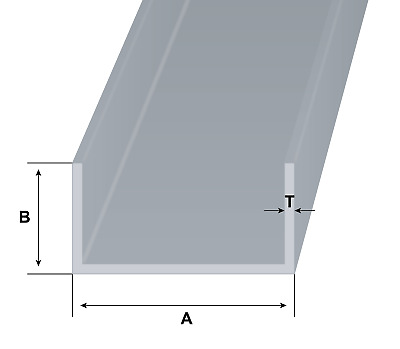 Aluminium Channel U C Section Various Sizes and Lengths Available