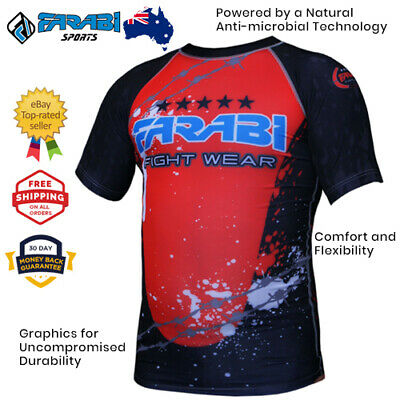 Compression Shirt MMA Kick boxing Training - Rash Guard wear Short sleeves