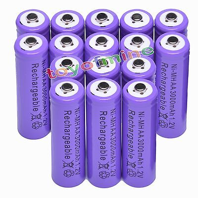 16 AA 3000 mAh Ni-MH rechargeable battery Cell 2A Pur