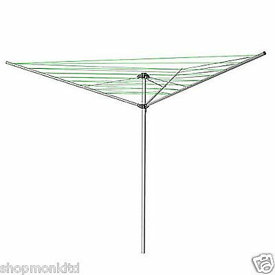 New 3 Arm Rotary Washing Line Airer Clothes Dryer Garden Outdoor Laundry Folding