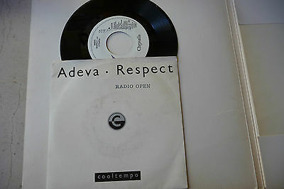 "ADEVA""RESPECT-disco 45 giri CHRYSALIS Italy 1989""(COVER OTIS REDDING)"