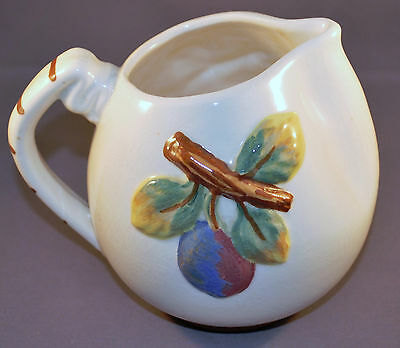 Vintage 1940's Artistic Pottery of California Pitcher Strawberries and Plums 505