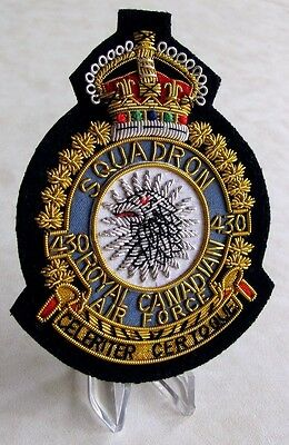 Canada RCAF Royal Canadian Air Force 430 SQUADRON  KC 1939-52 Blazer Badge WWII