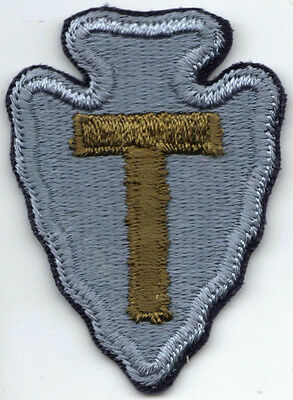 "1943-46 ""T-Patchers"" 36th Infantry Division Shoulder Patch on Black Base"