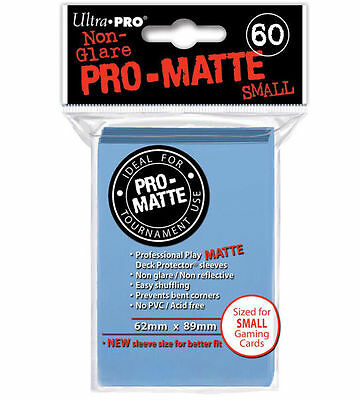 60 ct Small Pro-Matte Light Blue Deck Protector Card Sleeves | Ultra Pro Yugioh