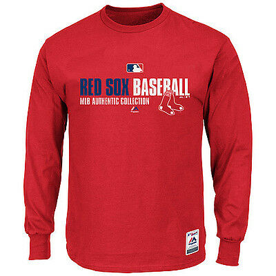 MLB Baseball Team Favorite Longsleeve Shirt BOSTON RED SOX Authentic Collection