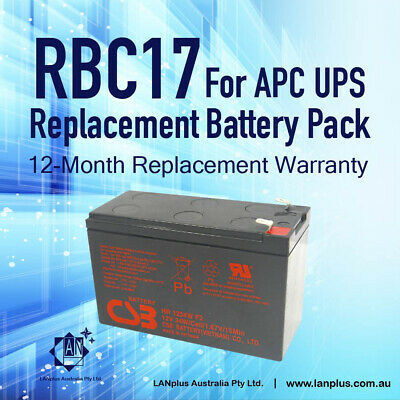 New CSB OEM Replacement Battery Pack RBC17 for APC 650 700 Tower UPS Warranty