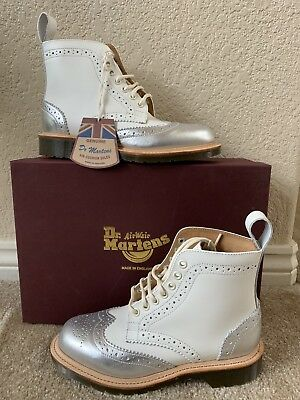 Dr. Martens Women`s 1460 LIMITED EDITION MIE Dorsey Silver Rogue Retail $450!