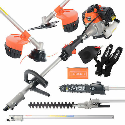 52CC Multi Function 5 in 1 Garden Tool - Strimmer, Brush Cutter, Chainsaw, Hedge