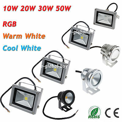 10W 20W 30W 50W Led Underwater Spot Flood light RGB Outdoor Garden Lamp IP68