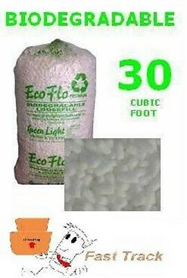 30 Cubic Ft Bag of ECOFLO Biodegradable Loose Fill OFFER *FREE P&P!*