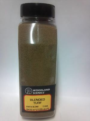 Woodland Scenics Blended Turf Earth Blend Ground Cover T 1350 Shaker - New