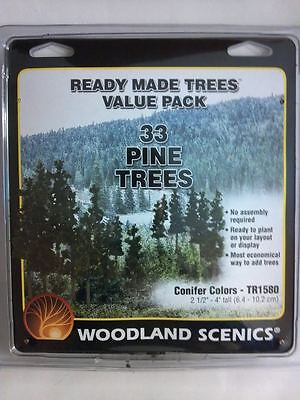 Woodland Scenics Ready Made Trees Pine Trees Conifer Colors (33) TR1580 New