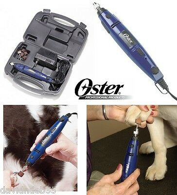 OSTER HEAVY DUTY PROFESSIONAL Pet DOG CAT CORDED NAIL GRINDER Trimmer KIT w/CASE