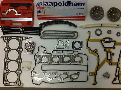 Vauxhall Corsa C & D 1.2 Z12Xep Head Gasket Set Timing Chain Kit + Locking Tools
