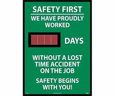 "NMC DSB8 Digital Scoreboard ""WE PROUDLY WORKED X DAYS WITHOUT ACCIDENTS"" 28X20"