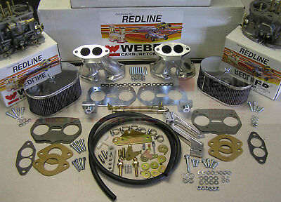 Weber Carburetor Kit VW Bug & Type 1 Dual 40 IDF - tuned for VW air cooled