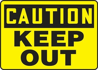 "NMC C41R Safety Sign ""CAUTION KEEP OUT"" 7""X10"" Rigid Plastic"
