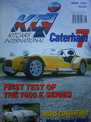 feat vehicles include CATERHAM 7 / 1600K / MIDAS CONVERTIBLE / KITCAR INT 06/96