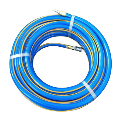 """NEW 20 Air Compressor Hose 10MM - 3/8"""" Permanent Fittings NON-KINK Aussie Made"""