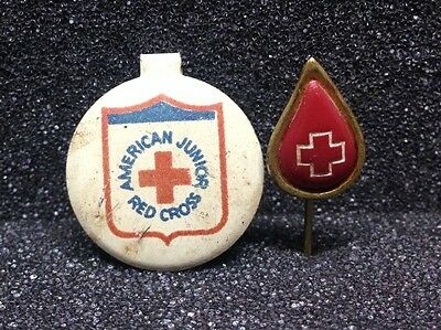 [45716] Set Of Two American Red Cross Pins