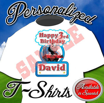 New Custom Personalized Thomas The Train Birthday T Shirt Party Favor Add Name