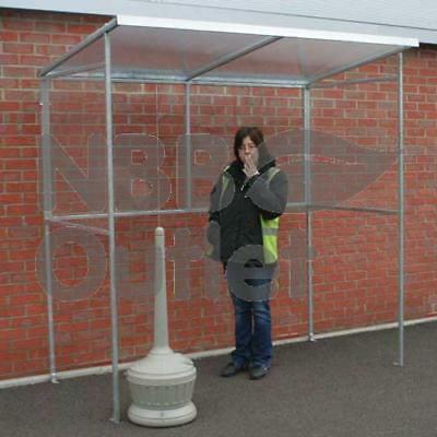Open Fronted 3-5 Person Smoking Shelter - Steel Frame & Polycarbonate Sides